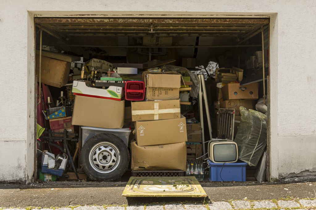 storage shed or hoarding cleanout
